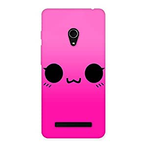 Delighted Pink Smile Face Back Case Cover for Zenfone 5