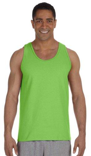 Adult Cotton Tank Top (Lime) (Medium)