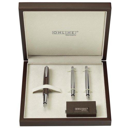 Wood Art Calligraphy Set - Nibs .8mm, 1.4mm & 1.8mm, Pen Stand