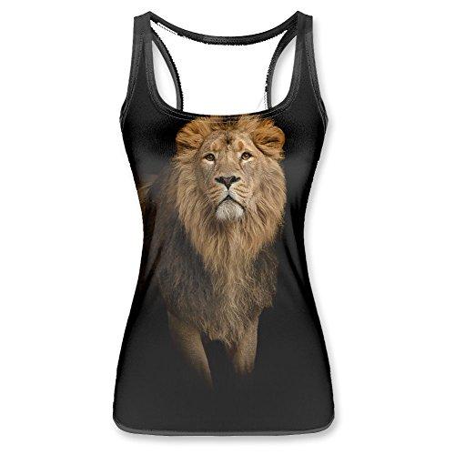 King of Jungle Lion Women Vest Tank Top M
