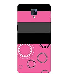 Rangoli Pink Girls Design Cute Fashion 3D Hard Polycarbonate Designer Back Case Cover for OnePlus 3 :: OnePlus Three