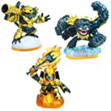 Skylanders Giants Character - Legendary 3 Pack Ignitor, Jet Vac & Slam Bam (Exclusive) Suitable for PS3, XBOX360, Wii, 3DS