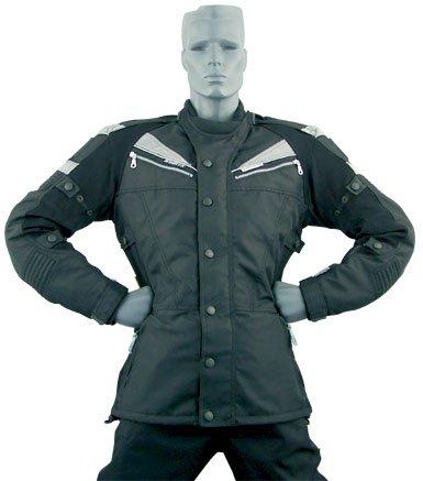 roleff racewear 7182 blouson moto berlin argent noir s. Black Bedroom Furniture Sets. Home Design Ideas