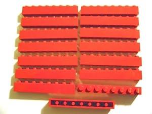lego city 15 rote steine mit 1x8 noppen 3008 bausteine spielzeug. Black Bedroom Furniture Sets. Home Design Ideas