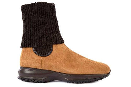 Hogan stivaletti stivali donna in camoscio interactive marrone EU 35 HXW00N09250967S800