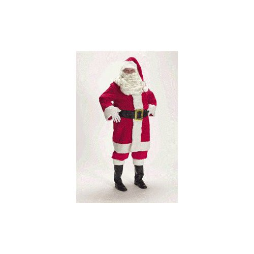 Deluxe Father Christmas Santa Claus Suit Adult Size 42-48 Standard