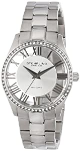 Stuhrling Original Women's 750L.01 Classic Ciara Analog Display Swiss Quartz Silver Watch
