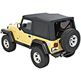 Pavement Ends by Bestop 51197-35 Replay Black Diamond Soft Top with Tinted Window for Jeep Wrangler