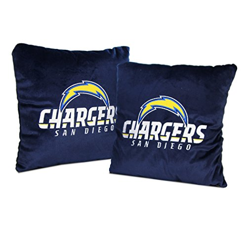 San Diego Chargers Blanket: NFL Team Logo Throw Pillow 2-Pack (San Diego Chargers