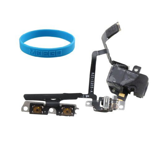 Generic Replacement Earphone Headphone Audio Jack Volume/Mute Button Flex Cable Assembly Parts For Iphone 4 + Free Gift