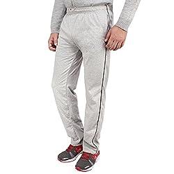 Dernier Wear Men's Cotton Track Pants Grey-XXL