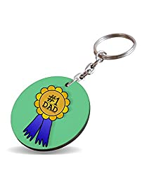 No.1 Dad A Special and Best Occassion Gifts For Dad Father's Day Circle Wooden Keychain
