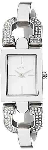 DKNY NY8129 silver dial stainless steel bracelet women watch NEW