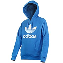 adidas Originals Men\'s 3Foil Hoodie, Medium, Bright Blue