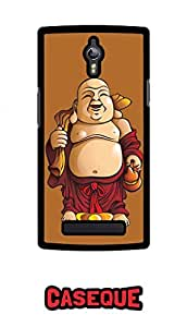 Caseque Laughing Buddha Back Shell Case Cover for Oppo Find 7