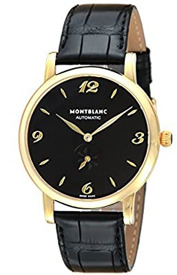 [Mont Blanc] MONTBLANC watch STAR black dial automatic winding stainless steel (YGPVD) alligator leather 107340 Men's parallel import goods]