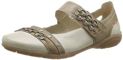 Remonte D4611 62, Chaussures de ville femme - Beige (Weiss/Kiesel), 36 EU (3.5 UK) (5.5 US)