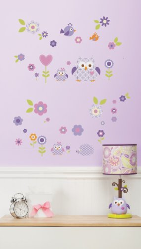Dena Wall Decal, Owl Blossom (Discontinued by Manufacturer)