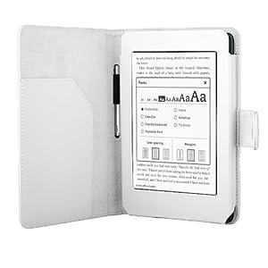 iHarbort Kindle Paperwhite / New Kindle Paperwhite 2013 Hülle Case Cover Leder Schutzhülle Lederhülle Etui Tasche mit Auto Sleep/Wake up weiß