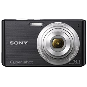 Sony Cybershot DSC-W610 14.1MP Point & Shoot Digital Camera with 4x Optical Zoom (Black)