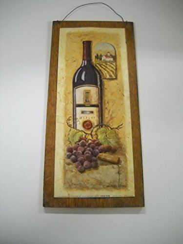 Special Times Merlot and Grapes Tuscan Wine Wooden Kitchen Wall Art Sign * (Grapes Kitchen Accessories compare prices)