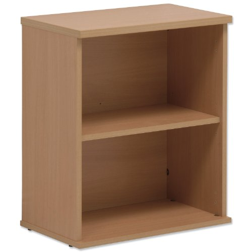 Sonix Bookcase Desk-high with Adjustable Shelf and Floor-leveller Feet W600xD330xH720mm Oak