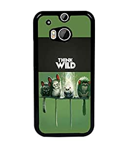 PrintDhaba Think Wild D-5961 Back Case Cover for HTC ONE M8 (Multi-Coloured)