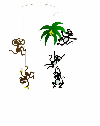 Flensted Mobiles Nursery Mobiles, Monkey Tree