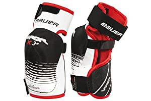 Bauer Vapor 3.0 Senior Elbow Protector Pads Schwarz/Rot/Weiss Size:S