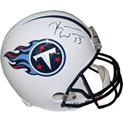 Kendall Wright Autographed Hand Signed Tennessee Titans Full Size Replica Helmet-... by Hall of Fame Memorabilia