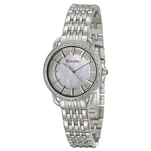Bulova Women's 96R146 Diamond Mother of Pearl Watch