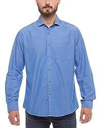 Prym Men's Casual Shirt (8907423014862_2011509401_Large_Blue)