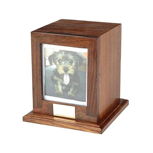 Custom Wood Personalized Engraved Photo Frame Pet Urn, Dog Cat Memorial Keepsake Urn (Medium) (Pet Dog Urns compare prices)