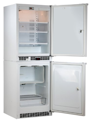Marvel Scientific 6Mod7140 Modular Series General Purpose Combination Refrigerator/Freezer With Door Lock, Door Type Solid, Door Hinge Right, Door Color White, Cabinet Color White front-68548