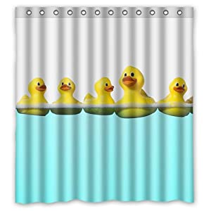 Rubber Duck Cute Yellow Duck 66 W X72 H Inch Bathroom Waterproof Shower Curtain