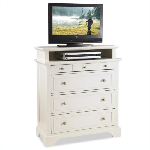 Home Styles 5530-041 Naples Tv Media Chest With Drawer, White