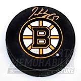 Patrice Bergeron Boston Bruins Signed Autographed Bruins Large B Logo Puck