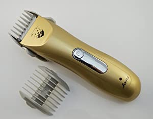Fortech® Low Vibration and Noise Design Animal Pet Hair Clipper Pet Grooming Trimmer (Gold 2 battery)