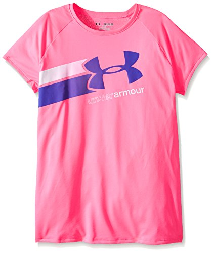Under Armour Fast Lane T-shirt fitness da ragazza a maniche corte, Rosa -  Pink Punk, L