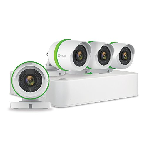 Read About EZVIZ HD 1080p Video Security System, 4 Weatherproof Cameras, 100ft Night Vision, 4 Chann...