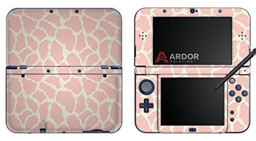 pastel-pink-animal-print-nintendo-3ds-xl-skin-decal