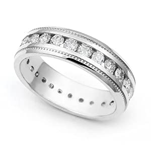 Shared Prong Wedding Band
