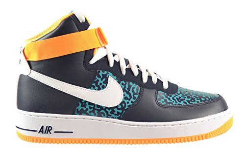 Nike Air Force 1 High '07 Men's Shoes Obsidian/White-Turbo Green-Atomic Mango 315121-409 (13 D(M) US) (High Top White Air Force 1 compare prices)