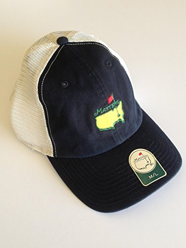 MASTERS Golf Tournament NAVY Mesh Medium/Large FITTED HAT Trucker Style 2016 Masters New! (Masters Trucker Hat compare prices)