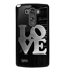 Love 2D Hard Polycarbonate Designer Back Case Cover for LG G3 :: LG G3 Dual LTE :: LG G3 D855 D850 D851 D852