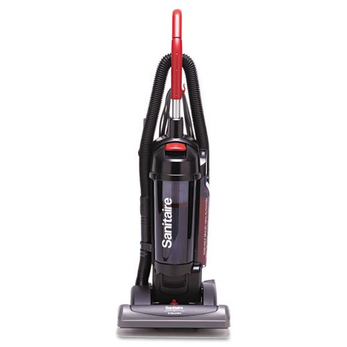 Electrolux Sanitaire - Sanitaire True Hepa Commercial Bagless/Cyclonic Upright Vacuum, Red Sc5845B (Dmi Ea front-101331