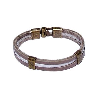 AUTHENTIC HANDMADE Leather Bracelet, Men Women Wristbands Braided Bangle Craft Multi [SKU001771]