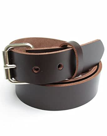 heavy duty chocolate brown leather belt 1 1 4 quot 30 at