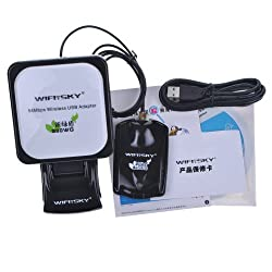High Power WIFISKY 980WG 60DBI 5800MW WiFI USB Wireless Adapter 8187L