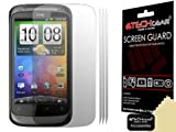 [Pack of 3] TECHGEAR® HTC Desire S CLEAR LCD Screen Protector Guard Covers with Cleaning Cloth & Application Card